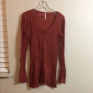 Free People Long Sleeves Blouse. Size M